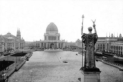 Court of Honor and Grand Basin of the 1893 World's Columbian Exposition in Chicago, Illinois.